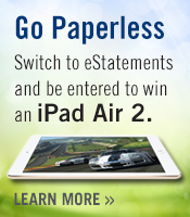 switch to estatements and enter to win iPad Air 2