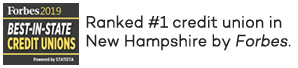 Ranked #1 credit union in New Hampshire by Forbes